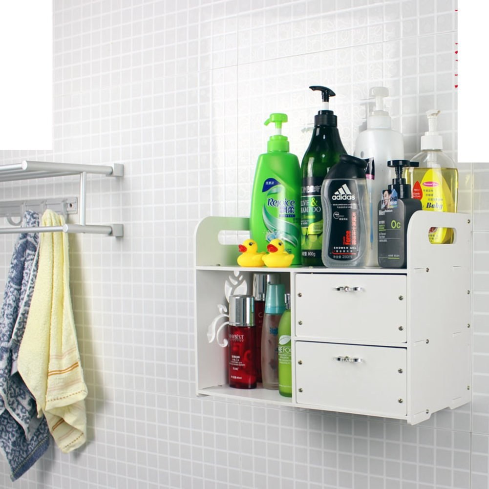 Wall-mounted bathroom cosmetic storage rack/wall mounted bathroom rack/shelf/desktop management arm/bathroom rack-B high-quality