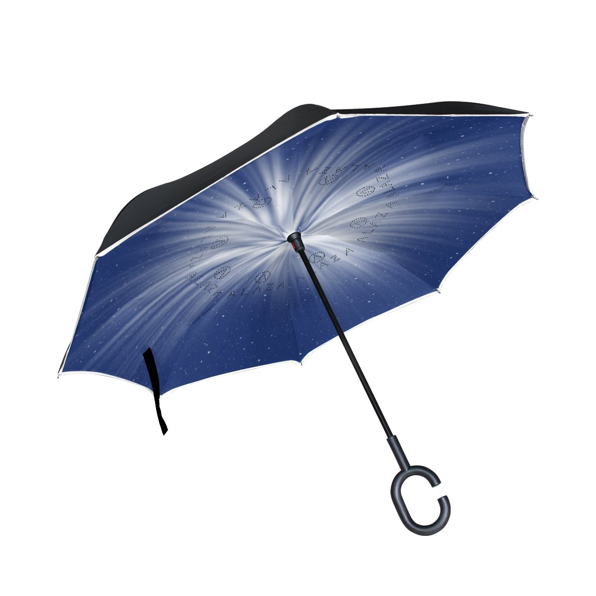 Inverted Umbrella Purple Sky Umbrella, Double Layer Inverted Umbrella-Waterproof Protection Umbrella Perfect For Car & Outdoor Self-Standing With C-Shaped Handle-Amazing Holiday Gift OREZI