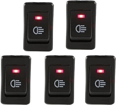 E Support/™ KFZ Auto Boot Kippschalter Druckschalter Schalter 12V Blau LED Licht Nebelscheinwerfer
