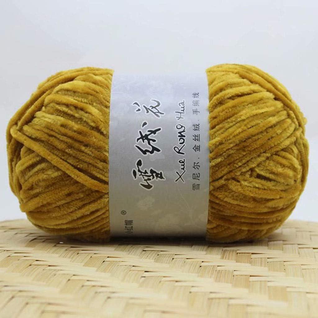 TwoCC-Lana,Edelweiss terciopelo dorado chenilla gruesa línea de ...
