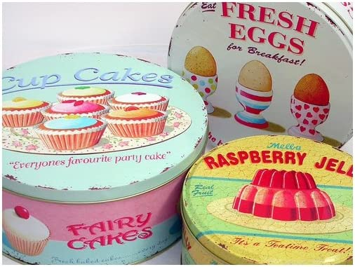 Set of 3 Retro Cake Tins