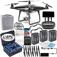DJI Phantom 4 PRO+ PLUS Obsidian Edition Drone Quadcopter Includes Display (Black) Rugged Ultimate Bundle