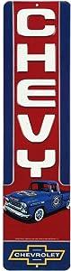 Open Road Brands Chevy Truck Vertical Embossed Metal Sign