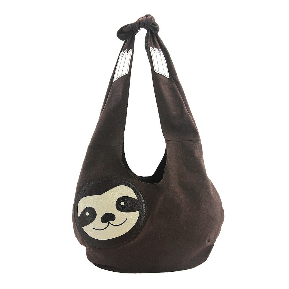 Sleepyville Critters Hang Loose Sloth Hobo Bag On Canvas
