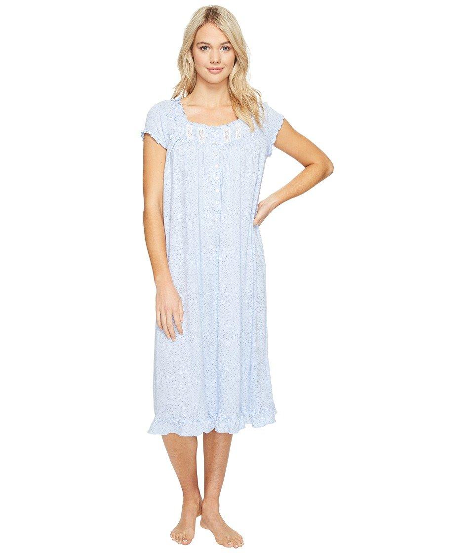 Eileen West Women\'s Waltz Nightgown Blue Dot Pajama Top at Amazon ...