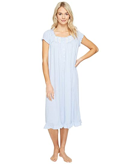 Eileen West Women s Waltz Nightgown Blue Dot Pajama Top at Amazon ... d81112d48