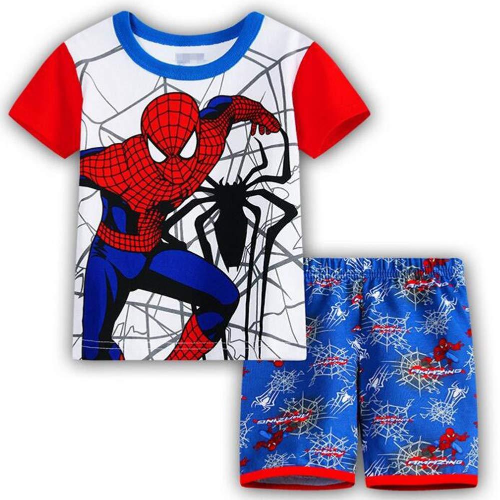 GERGER BO Spiderman Pajamas,Boys Pajamas Kids Short Sets 100/% Cotton Clothes Cartoon Sleepwears