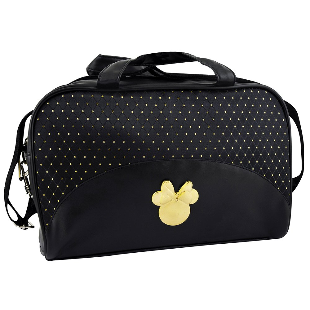 Disney Mickey Et Minnie Make-Up Borsa Vanity Nero e Oro - - Borsetta Nero e Oro Borsa Make-Up Vanity - 340 g Jugavi MN.0104.00