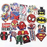 New 32 PCS Random Different Stickers Super Hero For Kids Laptop skateboard Toy Stickers