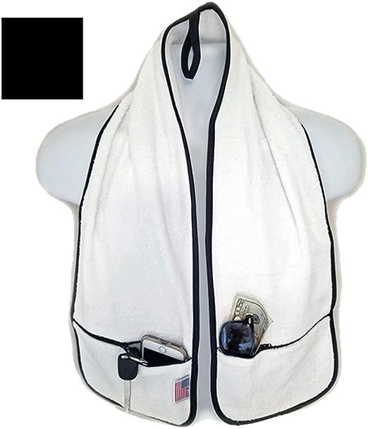 R J Hall Sports Towel - 2 Zipper Pockets Holds Belongings Safe ...