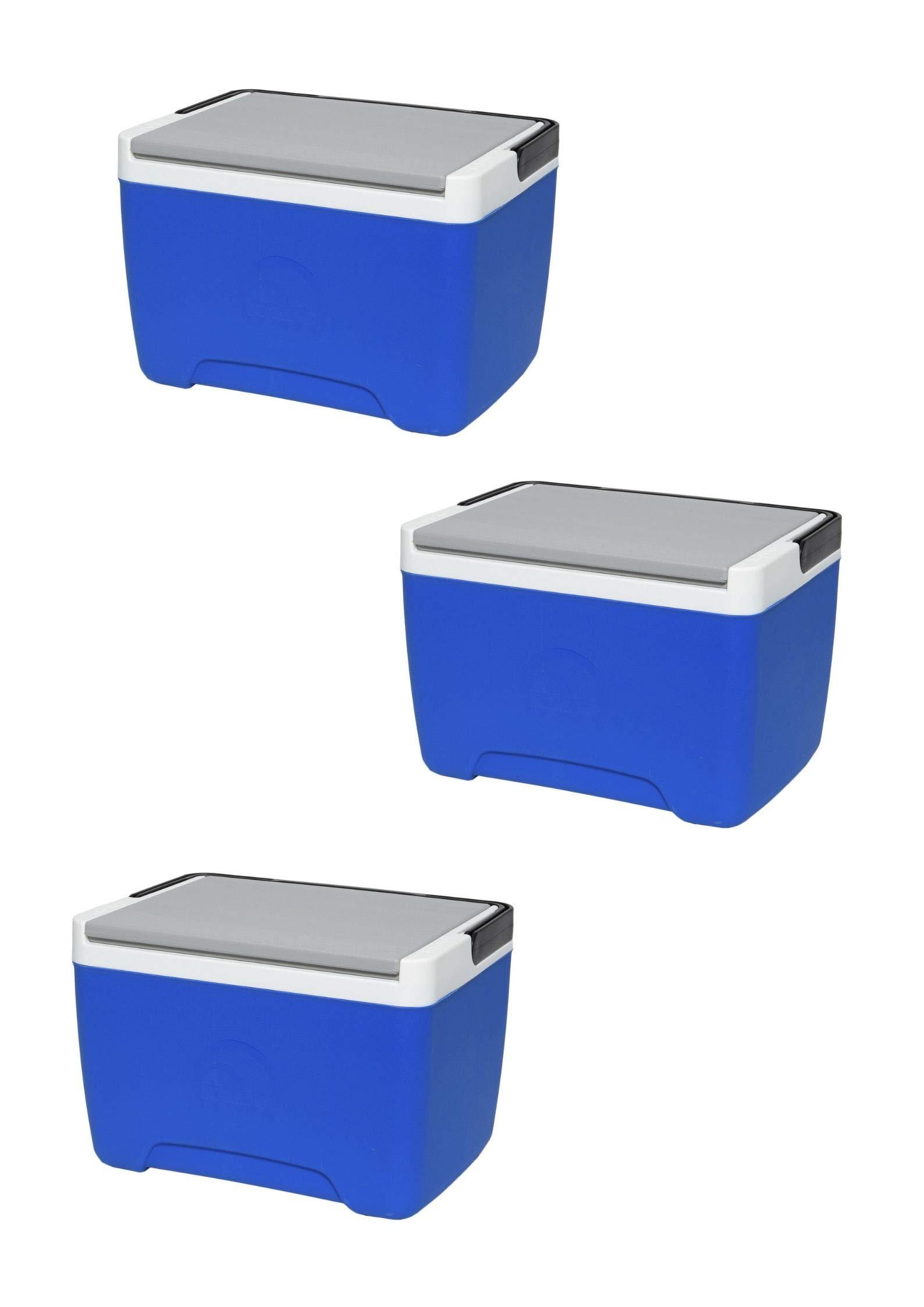 Igloo Island Breeze 9-Quart Cooler (3 Pack,Majestic Blue/Ash Gray/Black)