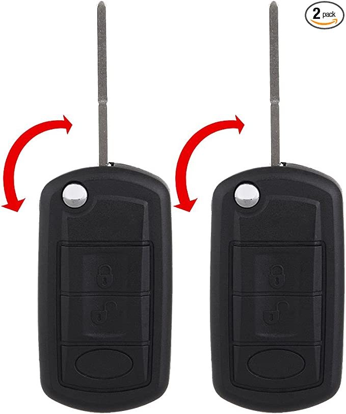Pack of 2 ECCPP Replacement fit for Uncut 315MHz Keyless Entry Remote Flip Key Fob Land Rover Discovery// LR3// Range Rover//Range Rover Sport