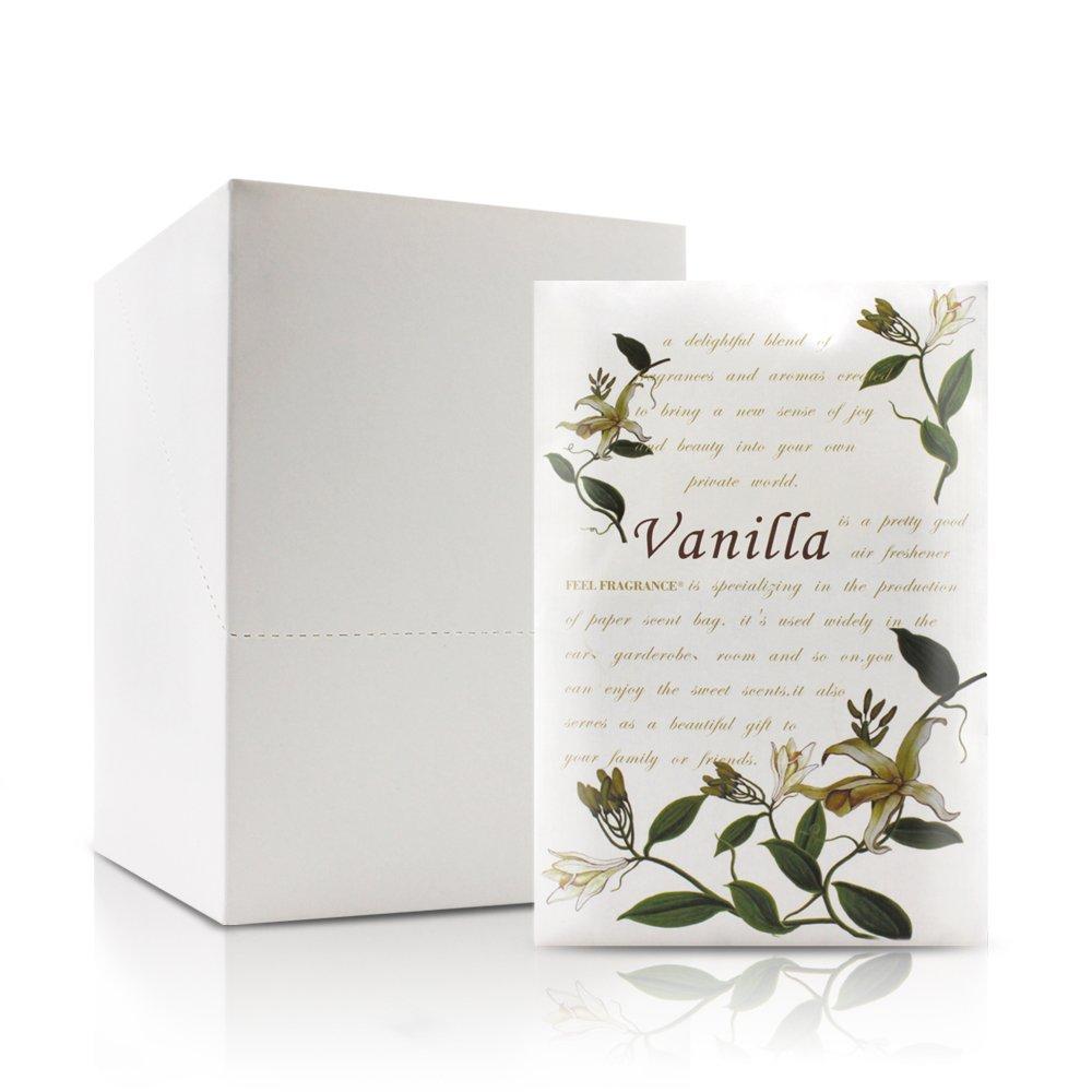 Feel Fragrance香りつきラベンダーサシェ封筒の引き出し、クローゼットLot of 12 (バニラ) B07DN7KPM6