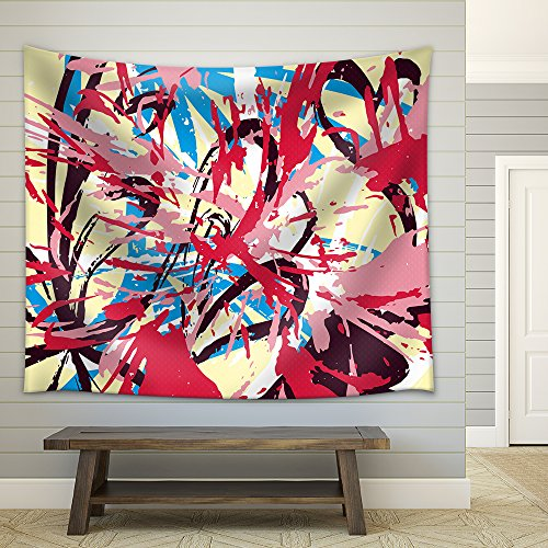 Vector Colored Abstract Pattern Graffiti Fabric Wall