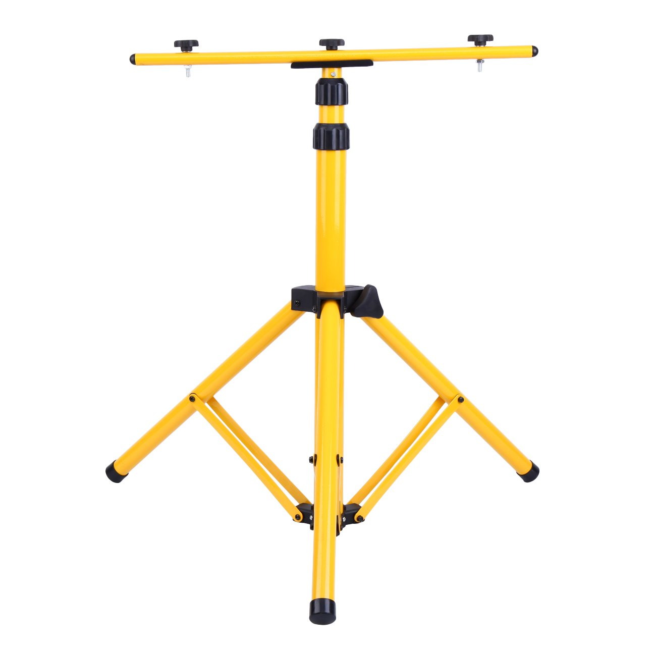 PanelTech Adjustable Tripod Stand for LED Flood Light Telescoping Steel Floodlight Stand with Heavy Duty Construction Portable Tripod Stand for Home and Job Site Lighting