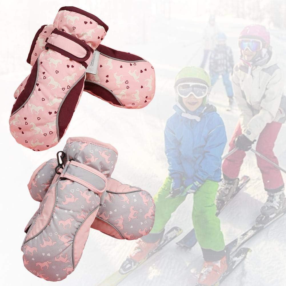 aheadad Kleinkind F/äustlinge Wasserdicht Winter Skifahren Schnee F/äustlinge f/ür Kleinkinder Kinder Jungen M/ädchen Handschuhe Warme Lange Manschette Zum Skifahren Snowboarden