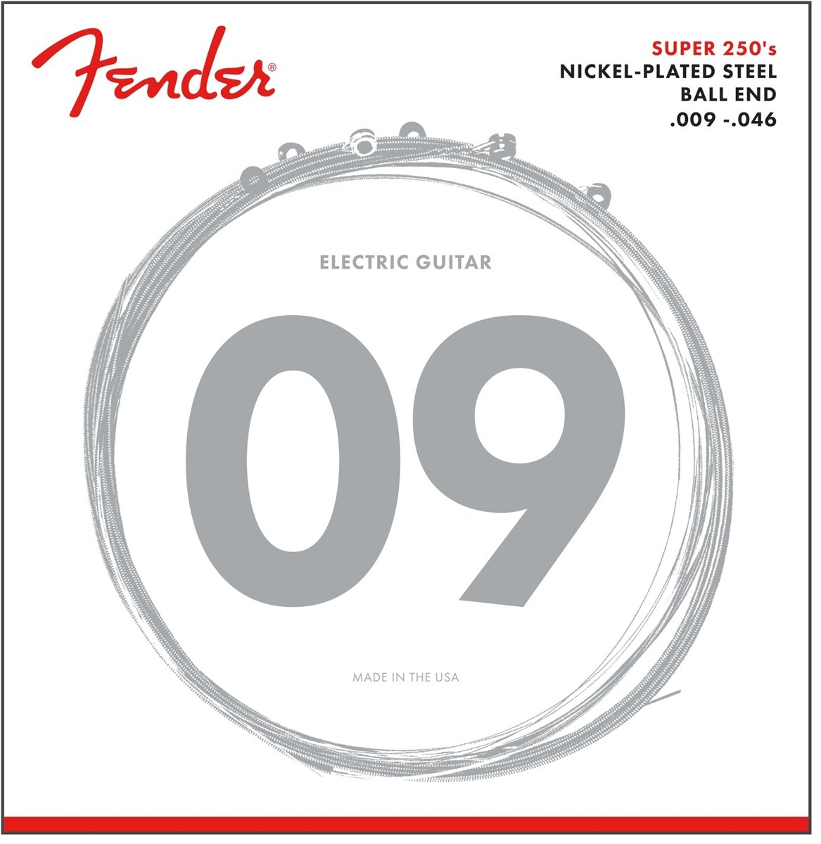Fender 250L 3 Pack Nickel Plated Steel Electric Guitar Strings - Light 0730250309