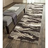 Safavieh Camouflage Shag Collection SG453-1391 Beige and Multi Runner (2'3'' x 11'7'')