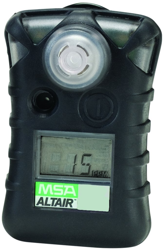 MSA Safety 10092521 ALTAIR Single Gas Detector, Hydrogen Sulfide (H2S), Low Alarm 10 PPM, High Alarm 15 PPM
