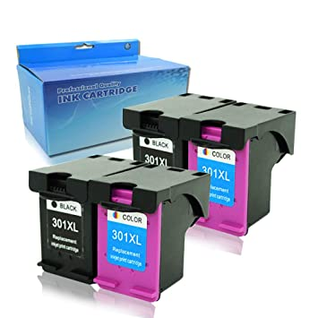 4 x (2 Negro, 2 tricolores) Remanufactured HP 301 301XL ...