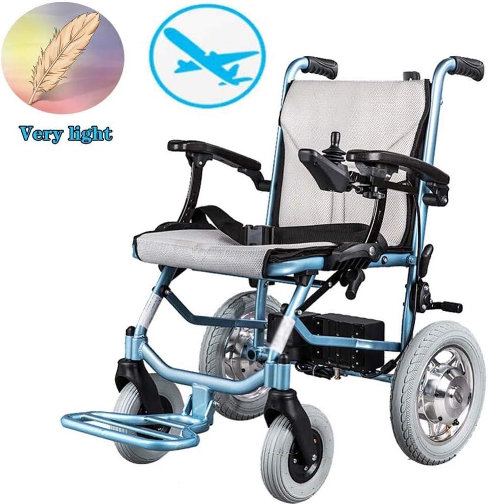 DGPOAD Chair Silla De Ruedas Inteligente Silla De Ruedas Eléctrica Power Plegable Wheelchair Ligera De La Aleación De Aluminio Silla,conduzca con Potencia O Use como Silla De Ruedas Manual