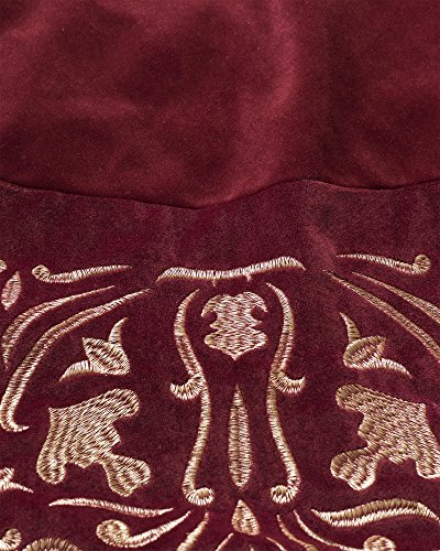Balsam Hill Luxe Embroidered Velvet Tree Skirt, 60 inches, Wine by Balsam Hill (Image #2)