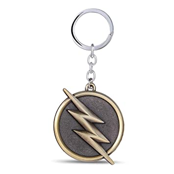 Película Superhéroe Flash Llavero Bronce Metal Llaveros para ...