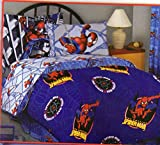 Spiderman Fleece Blanket Large Twin - Full Size 72 X 90 Inches