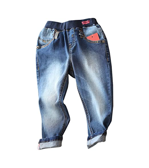 df2cd40fe Abalaco Boys' Kids Jeans Cotton Pull-On Denim Pants Stretch Waist (11-