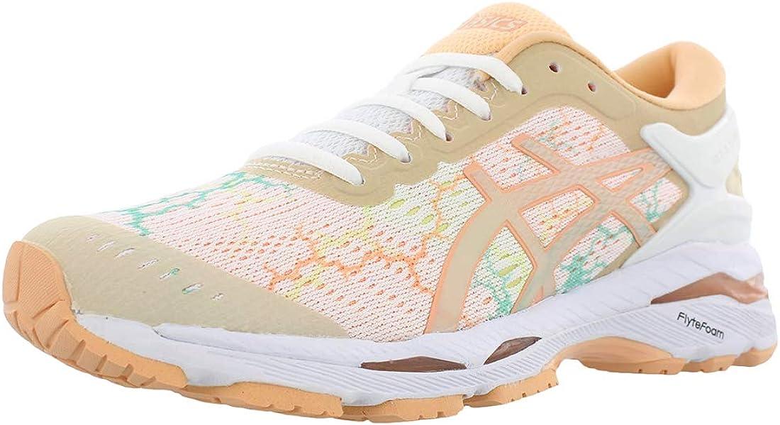 ASICS Gel-Kayano 24 Lite-Show White/White/Apricot Ice Womens Running Size 6M: Amazon.es: Zapatos y complementos