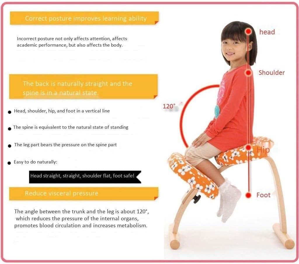ZHJING Chaise ergonomique de correction pour genoux Marron