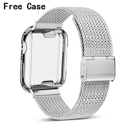 Amazon.com: Henstar - Correa de reloj compatible con iWatch ...
