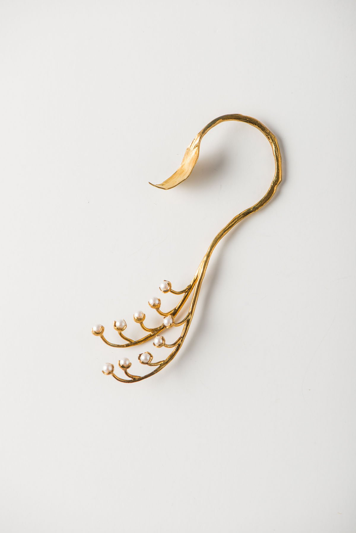 Lily of the Valley Ear Cuff with Pearls | Wedding & Bridal | Handmade in Japan