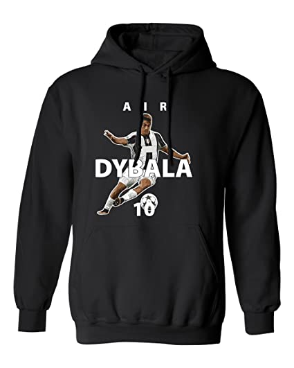 57dad4a75 ... reduced juventus paulo dybala quotair dybalaquot soccer mens hoodie  sweatshirt black dcf93 0d4d3 reduced adidas paulo dybala juventus third  jersey 18 ...