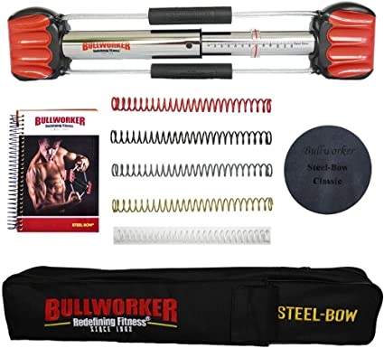 BullWorker Muscle Builder Heavy Duty with free 2 Key chains-zAX