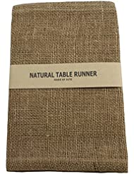 Charmant Kel Toy Burlap Jute Table Runner/Fold And Sew Edge, 14 By 72