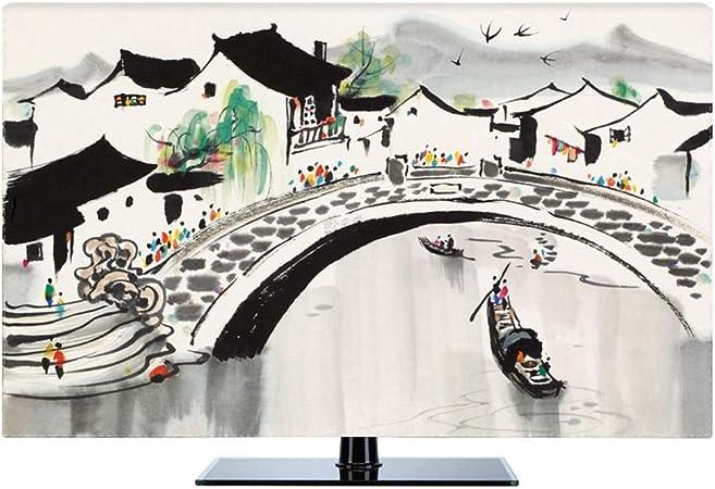 Ting Ting Cubiertas Protectoras Nuevo Chino A Prueba De Polvo Protege Los Televisores TV LCD Display Tingting-Funda para Monitor (Color : Jiangnan, Size : 37inch): Amazon.es: Hogar