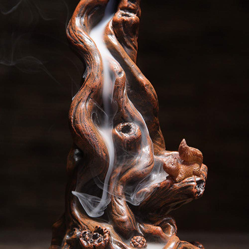 QIAN SHENG Backflow Incense Burner Incense Holder Ceramic Waterfall Incense Holder Home Decor Aromatherapy Ornament by QIAN SHENG (Image #5)