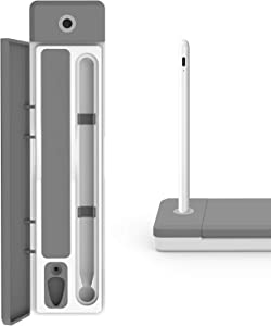 Ciscle Case Compatible for Apple Pencil/Apple Pencil 2, Plastic Carrying Case and Stand Pencil Holder with Cable Slot Suitable for Apple Pencil, Samsung Pen, Surface Pen, and Other Accessories