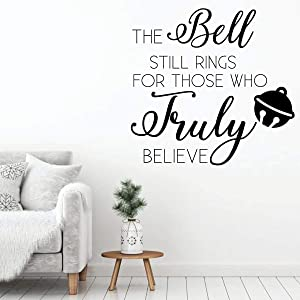 Tamengi Christmas Wall Decal - The Bell Still Rings - Holiday Decor for Living Room Or Family Room - Polar Express Decoration 15.7