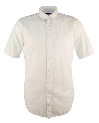 Ralph Lauren Mens Short Sleeves Seersucker Button-Down Shirt at ...