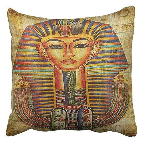 Kidmekflfr Throw Pillow Cover Egyptian Vellum Vintage Stylish Decorative Pillow Case Home Decor Square 18 x 18 Inch Pillowcase ()