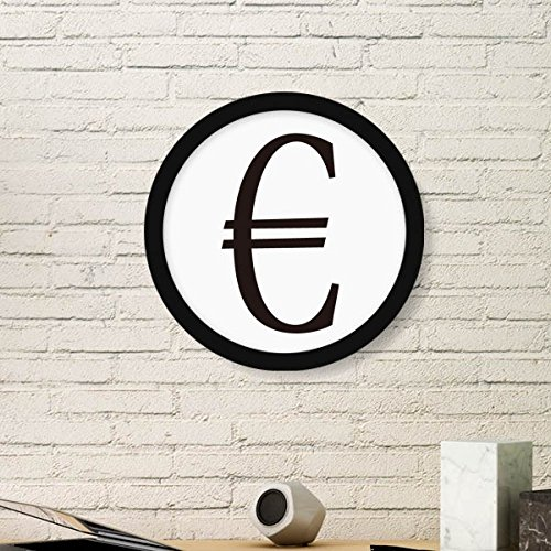 Currency Symbol Euro Round Picture Frame Art Prints of Paintings Home Wall Decal Gift