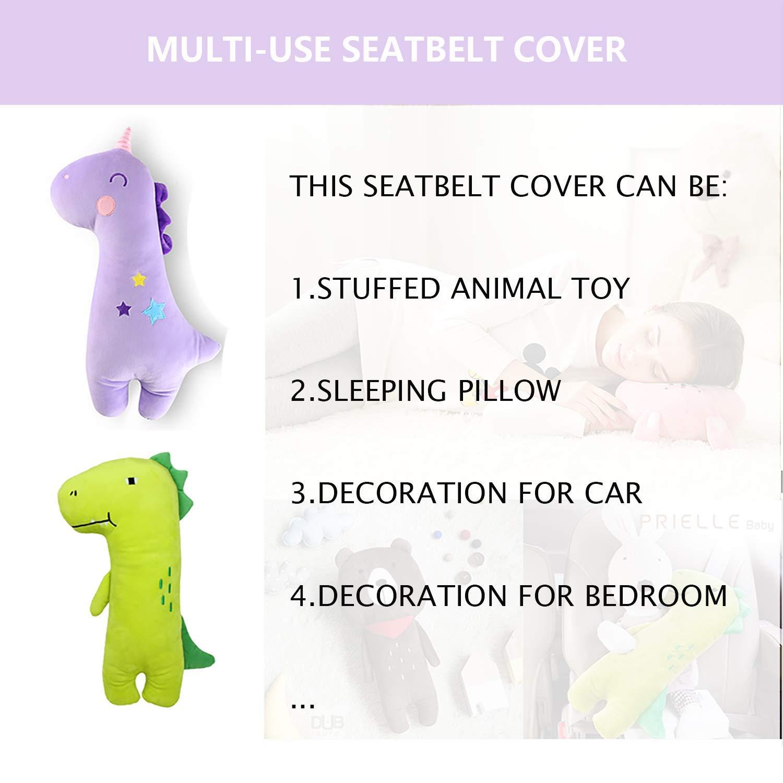 MANNEW Seatbelt Cover Travel Pillow Seat Belt Adjuster Infant Car Seat Cushion Car Seat Belt Holder Seat Cushion for Kids Deer