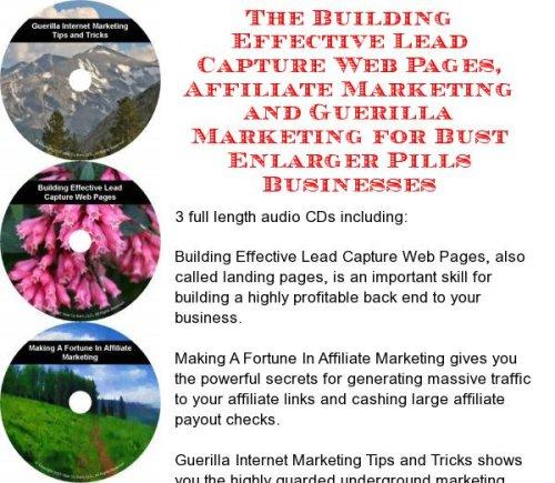 The Guerilla Marketing, Building Effective Lead Capture Web Pages, Affiliate Marketing for Bust Enlarger Pills Businesses
