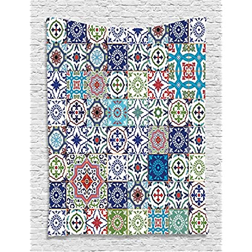 Patchwork Decor Theme Mosaic Ceramic View Moroccan Tile Traditional Room  Decorations Art Print Eastern Style Printed Wall Hanging Tapestry, ...