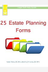 25 Estate Planning Forms: Legal Self-Help Guide Paperback