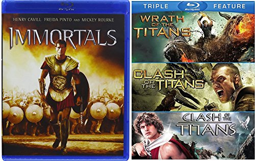 Immortals & Clash of the Titans / Wrath of the Titans Triple Feature Blu Ray Amazing Fantasy Olympians Double Feature