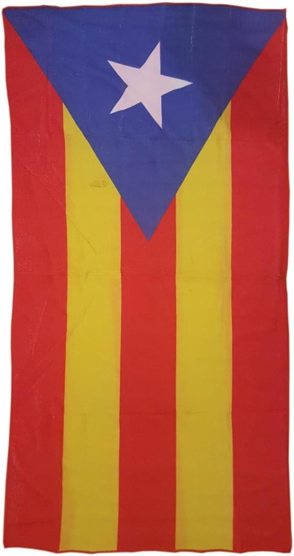 Toalla de Playa Estampada con la Bandera Independentista de Cataluña - Medidas 140 x 70: Amazon.es: Deportes y aire libre