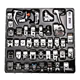 42pcs Sewing Foot Kit Sewing Machine Presser Feet Set for Brother Babylock Singer Janome Elna Toyota New Home Simplicity Necchi Kenmore and White Low Shank Sewing Machines